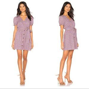 REVOLVE J.O.A. V Neck Button Front Dress